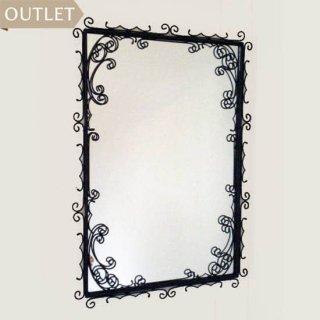 【OUTLET】アイアン 壁掛けミラー : ダブリュー・ダブリュー / 鏡  鉄