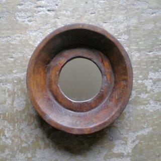 木鉢 円形 ミラー L / ヴィンテージ / 直径:430mm