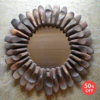 壁掛け ミラー L / アンティーク 靴の木型