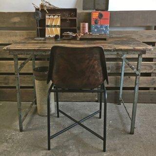 古材 x アイアン ヴィンテージ フォールディング・テーブル / デスク - BROWN 1080mm (IFN-88-B)
