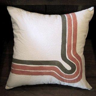 クッションカバー 45cm ハンドペイント cotton100% 3色 《メール便可》(IFB-011)