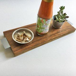チーク+アイアン テーブル トレイ / ココナツオイル仕上(N-Ssize / 34cm)