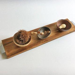【再入荷】チーク + アイアン テーブル トレイ / ココナツオイル仕上 / N-M 54cm(OIR-080)