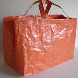 ショッピングバッグ エコバッグ 耐水 (L) / フラップ付き (IFN-303) 《メール便選択可》