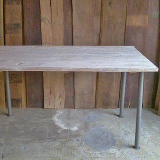 古材 ダイニングテーブル 天板 / ホワイト アンティークペイント 長方 -1400 【SDGs】(IFN-83)