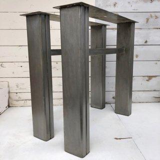 アイアン鉄骨 テーブル脚 H690mm 送料無料 (IFN-49)