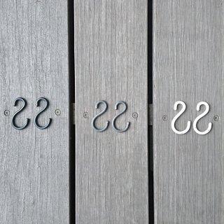 【新入荷】アイアン Sカン / ダルマ型 -50mm / 鉄 3色 (2本組) (メール便選択可)