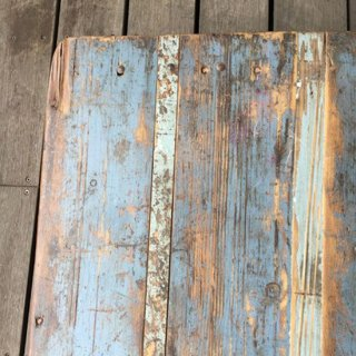 古材 x アイアン ヴィンテージ フォールディング・テーブル / デスク - BLUE 1080mm  (IFN-88-C)