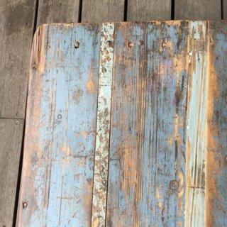 古材 x アイアン ヴィンテージ テーブル / デスク - BLUE 1080mm 送料無料 【SDGs】(IFN-88-C)