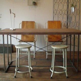 【OUTLET】ダイニングテーブル アイアン 古材チーク 天板 / L 1500