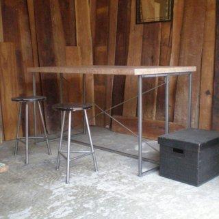 【OUTLET】ダイニングテーブル アイアン 古材チーク 天板 / M 1350