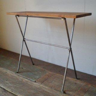 【訳あり品】 フォールディング テーブル M / チーク + アイアン / 木 + 鉄 600x200