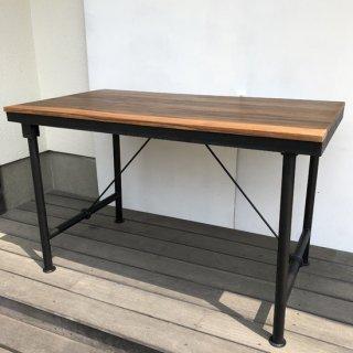 【新入荷】チーク アイアン デスク テーブル / 1260x680x770mm 【送料無料】(IFN-90)