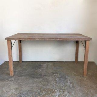 【セットプライス】ダイニングテーブル シャビー古材天板 +木とアイアン脚 -1500 送料無料(IFS-04)