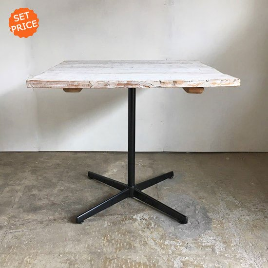 セットプライス+fair割引 正方テーブル シャビーホワイト