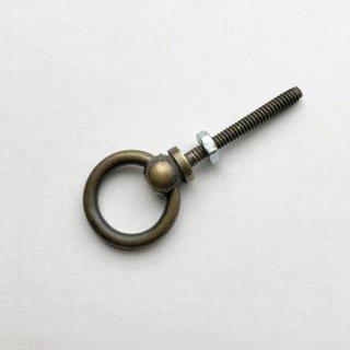 つまみ 取っ手 真鍮 ブラス / リング 25mm (JB-004L) 《メール便選択可》