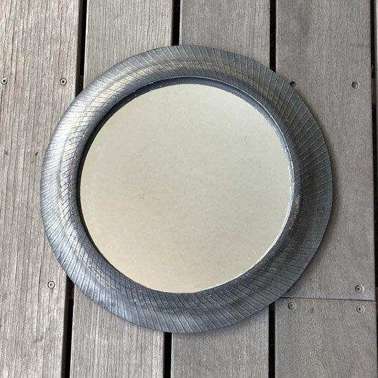 円形 壁掛けミラー リサイクルタイヤ