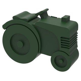 【BLAFRE】 ブラフレ/トラクター型ランチボックス ダークグリーン
