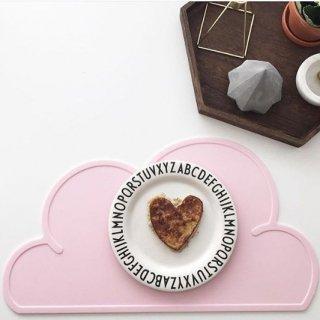 【KG DESIGN】 ケージーデザイン/雲形シリコン製クラウドランチョンマット ピンク