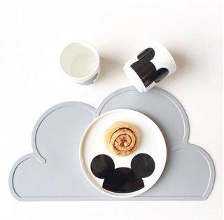 【KG DESIGN】 ケージーデザイン/雲形シリコン製クラウドランチョンマット グレー