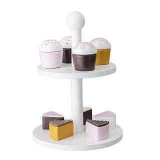 【Bloomingville】ブルーミングヴィル/木製ケーキ10個&ケーキスタンド