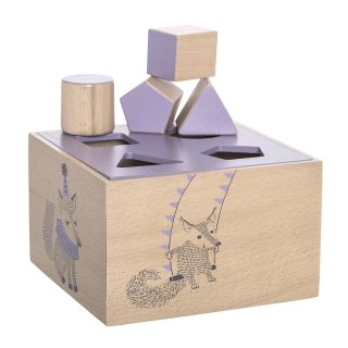 【Bloomingville】ブルーミングヴィル/木製型はめブロック(積み木)ピンク