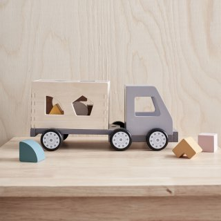【Kids Concept】 キッズコンセプト/木製型抜きブロックトラック