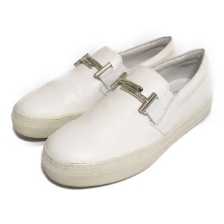 TODS│トッズ│レザースニーカー│size37│white