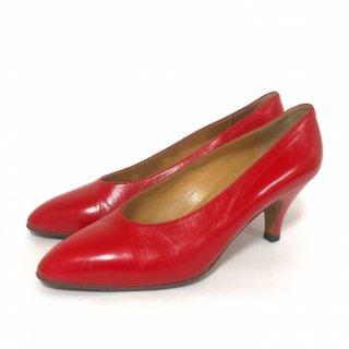 HERMES│エルメス│ヒールパンプス│size37│red