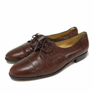 GUCCI│グッチ│革靴│ブラウン│型押しレザー│80s