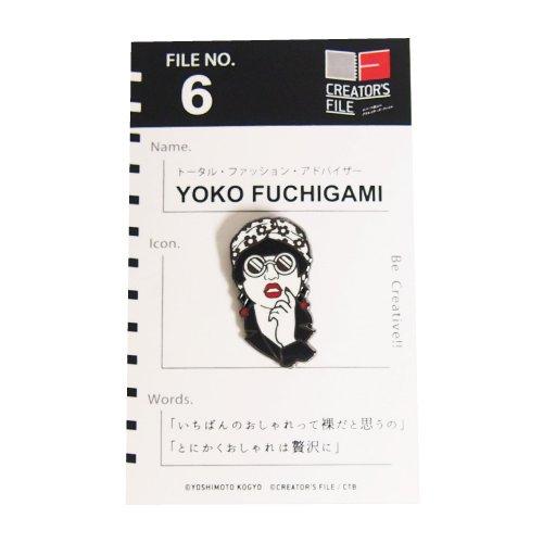CTFクリエイターズピンバッジ YOKO FUCHIGAMI
