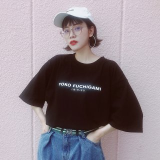 YOKO FUCHIGAMI 公式ビッグシルエット TシャツBK<img class='new_mark_img2' src='https://img.shop-pro.jp/img/new/icons55.gif' style='border:none;display:inline;margin:0px;padding:0px;width:auto;' />