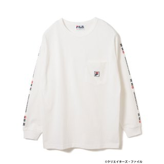 クリエイターズ・ファイル×FILA×BEAMS T /  LOMG SLEEVE TEE【WHITE】<img class='new_mark_img2' src='https://img.shop-pro.jp/img/new/icons13.gif' style='border:none;display:inline;margin:0px;padding:0px;width:auto;' />
