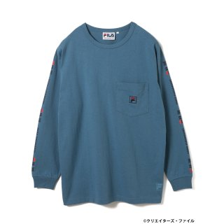 クリエイターズ・ファイル×FILA×BEAMS T /  LOMG SLEEVE TEE【SAX】<img class='new_mark_img2' src='https://img.shop-pro.jp/img/new/icons13.gif' style='border:none;display:inline;margin:0px;padding:0px;width:auto;' />
