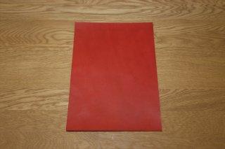 本ヌメ革 赤 A4サイズ