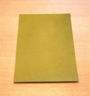 本ヌメ革 緑 A4サイズ 厚さ2�