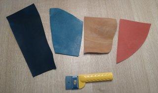 オイルレザー 4色 お試し切れ端セット