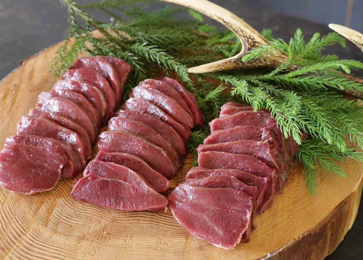 森のジビエ 鹿肉 モモスライス BBQ用 200g