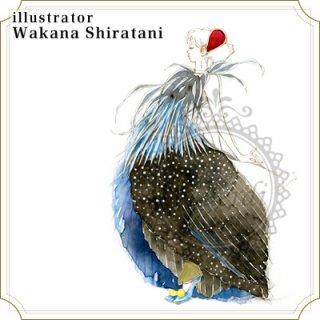 """アートポストカード""""Bird""""ホロホロ"""