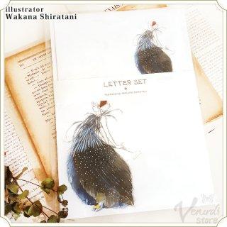 """アートレターセット""""Bird""""ホロホロ"""