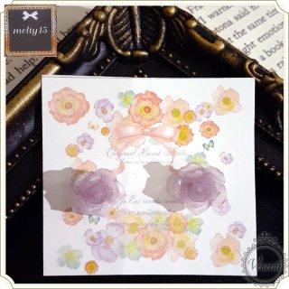 purple rose ピアス クリア