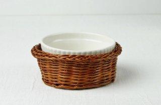 耐熱グラタン皿 カゴ付き(小)