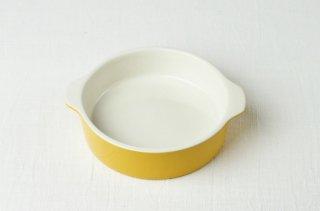 耐熱グラタン皿 丸・イエロー