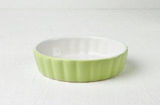 グラタン皿 丸/グリーン