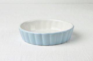 グラタン皿 丸/ブルー