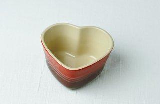 グラタン皿 ハート型/赤/ルクルーゼ