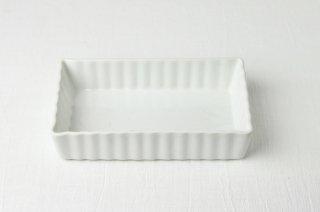 グラタン皿 トレ—/白