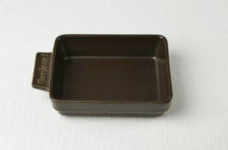 グラタン皿 長角/こげ茶