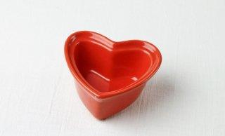 グラタン皿 ハート型/赤