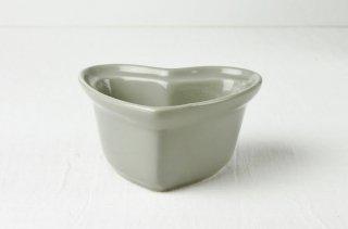 グラタン皿 ハート型/グレー
